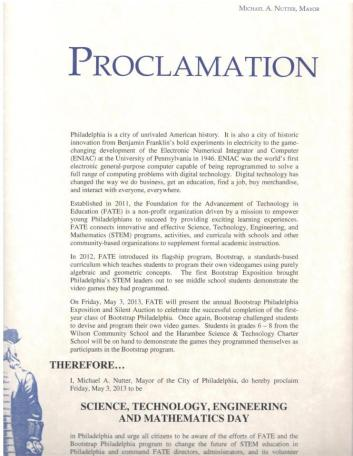 FATE Proclamation