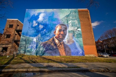 Tribute to John Coltrane Mural - Diamond and 32nd Street