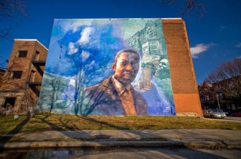 Tribute to John Coltrane Mural - Diamond and 32nd Street