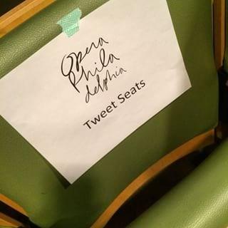 Opera Philadelhia Tweet Seats - 6.3.15