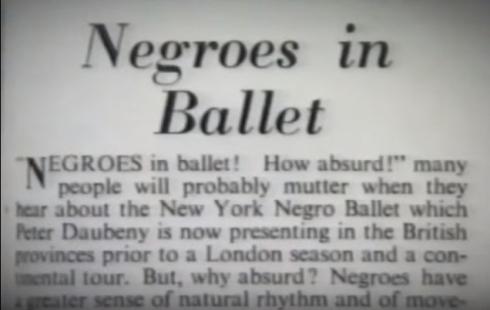 Negroes in Ballet