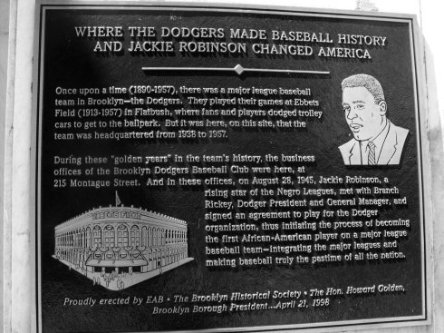 Jackie Robinson Plaque - Brooklyn Heights