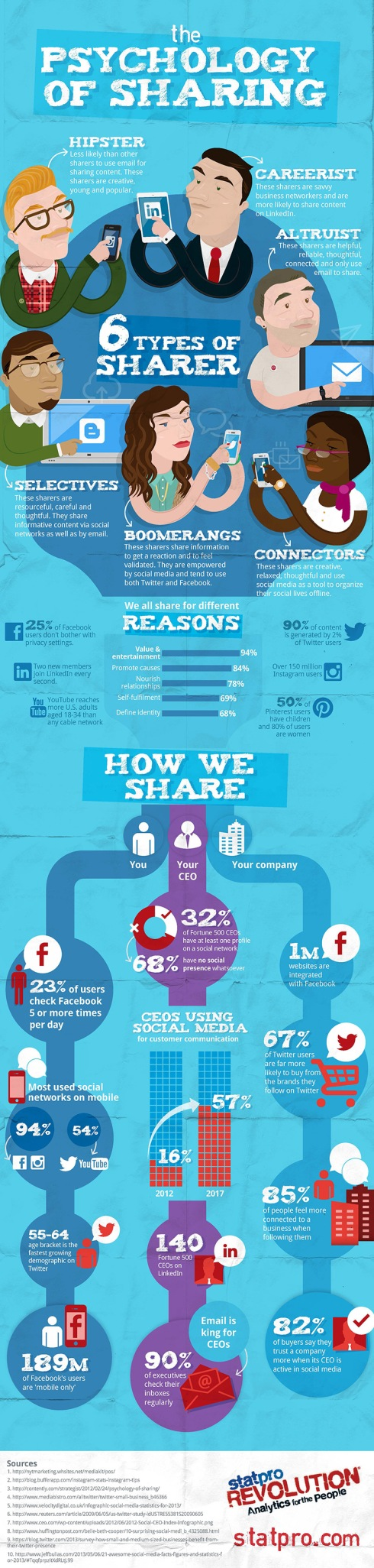 The Psychology of Sharing Infographic - Thanks for Sharing