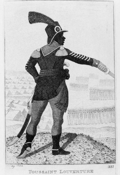 Pierre Dominique Toussaint l'Ouverture (1746-1803) Haitian revolutionary leader. Etching by John Kay 1802.
