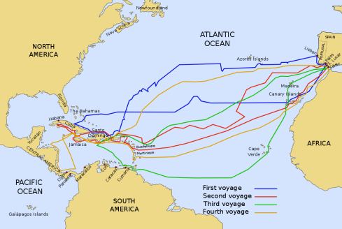 Christopher Columbus Four Voyages