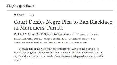 #FrankRizzo - NYT - Mummers Parade